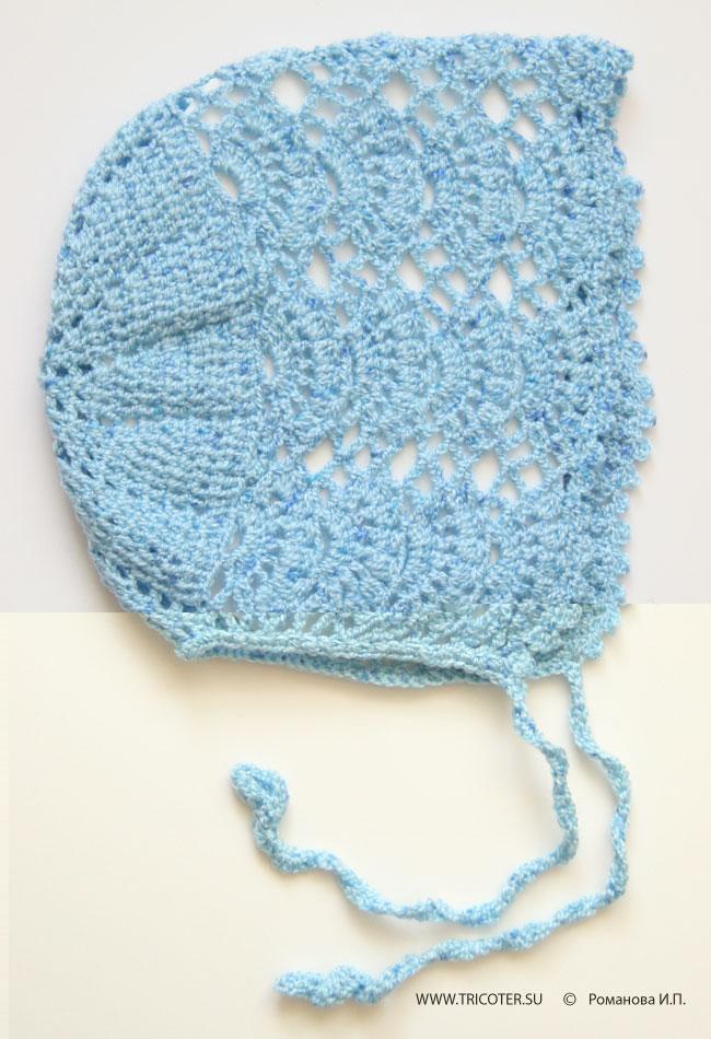 tricoter.su - Крючок - Детский чепчик. Размер. 6/12 месяцев