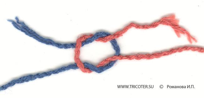 Вязание как привязать новую нить